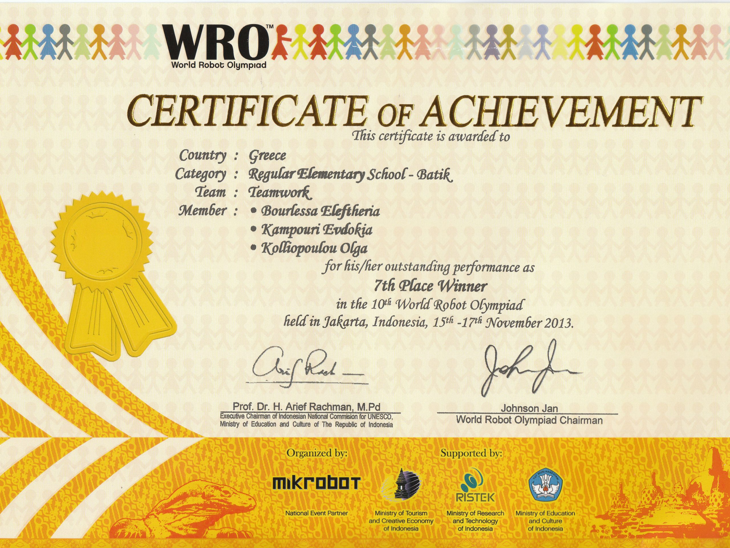 Certificate-of-Achievement-(Greece 7th Place Winner)-2013